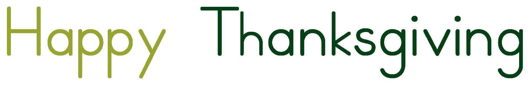 Happy Thannksgiving
